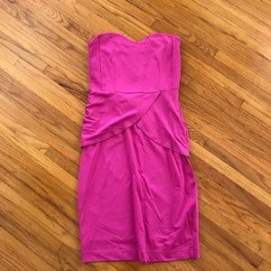 Magenta H&M Strapless Dress, Size Small